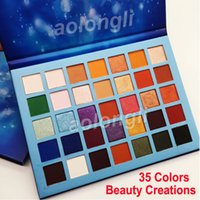 Wholesale cosmetic glitter wholesale - Newest Beauty Creations Eyeshadow Palette 35 Colors Sky Eye Shadow Matte Shimmer Palette makeup shadows palette cosmetics DHL Free Shipping