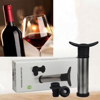 kırmızı vakum pompaları toptan satış-Kırmızı Şarap Şampanya Şişesi Preserver Hava Pompası Tıpa Vakum Mühürlü Koruyucu Tazelik Stoper Çene Tutun Araçları WX9-254 Tutmak