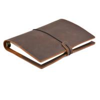 vintage binder großhandel-Handgemachte Vintage Leder Tagebuch Notebook A5 A6 A7 Rind Binder Sketch für Reisetagebuch, Business, Büro, Schulmaterial