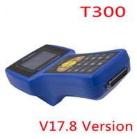 programadores clave ecu al por mayor-El más nuevo V17.8 Auto Key Clone Tool T300 Transponder Key Programmer T-300 + de Read ECU-IMMO para automóviles multimarca Inglés / Español