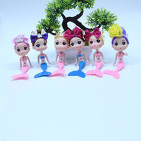 Wholesale cat doll diy online - 16cm Barbie Mermaid Doll Toy D Scene Cake Baking Decorate Cute Ddung Dolls With Different Headwear fh WW