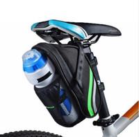 ingrosso bottiglie piegate-2018 Sacchetto della bicicletta Pieghevole Mountain Road Bike Coda posteriore Reggisella Sella Sacchetti bottiglia portatile Sacchetto del sedile pacchetto BMX
