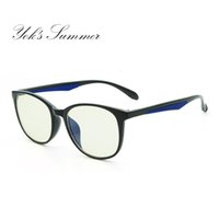 5d9912b081d Yok s Summer Computer Gaming Anti Blue Eyeglasses Women Men TR90 Titanium  Oval Glasses Frame Optical Prescription Eyewear UN081