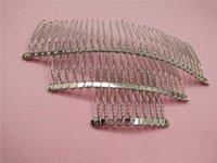 diş telleri toptan satış-50 adet 10 20 30 Diş Düğün Gelin DIY Tel Metal Saç Tarak Klipler DIY Saç Bulguları Aksesuarları