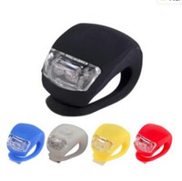 Wholesale bike light flash online - Bicycle Cycling Lamp Silicone Bike Head Front Rear Wheel LED Flash Bicycle Light Lamp Bike Taillight Tail Lamp With The Battery