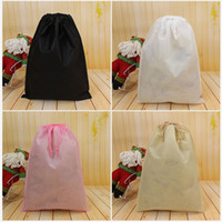 Wholesale organization shoes for sale - Group buy Non Woven Storage Dust Bag For Clothes Shoes Packaging For Handbag Travel Sundries Storage Pull Rope Organization Bags DHL SHIP HH7