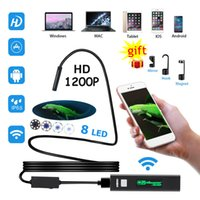 Wholesale usb video inspection camera - 1200P HD WiFi Endoscope Inspection Camera Android USB Softwire Rigid Hardwire Borescope Snake Video Camera For Iphone Android PC