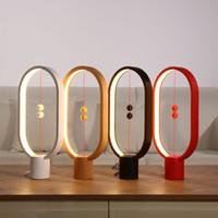 denge gücü toptan satış-Allocacoc Heng Dengesi Lambası LED Gece Lambası USB Powered Ev Dekor Yatak Odası Ofis Masa Gece Lambası Roman Işık Hediye Çocuklar Için