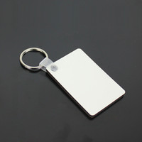 Wholesale MDF Blank Key Chain Rectangle Sublimation Wooden Key Tags For Heat Press Transfer Photo Logo Thermal printing Gift freeship
