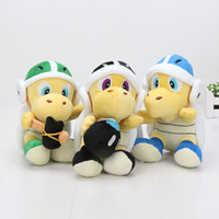 "Wholesale Super Mario Boomerang - 3pcs set Super Mario Bros Plush 8"" Koopa Troopa Hammer Landmine Bomb Boomerang Koopa Turtle Stuffed Plush Toys Doll"
