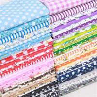 """черная тюль белая вышивка оптовых-10 """"x 10"""" Смешанные цветочные Gingham Dots звезды хлопок ремесло ткань ткань расслоение квадраты лоскутное одеяло лист DIY швейные одеяло"""