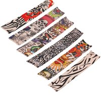 Wholesale temporary tattoos online - Hot Selling Tattoo Sleeves Men and Women Nylon Temporary Tatto Arm Stockings Oversleeves Fake Tattoo Sleeves