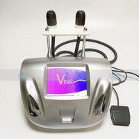 yaşlanma karşıtı kartuşlar toptan satış-V-Max Cilt Sıkılaştırma Yüz Germe HIFU Kırışıklık Giderme Makinesi Vmax Yüksek Yoğunluklu Odaklanmış Ultrason Terapisi 2 Kartuşlu Anti Aging