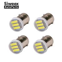 Wholesale ba9s led yellow light - Ba9s T4W 3-7020 SMD LED White Lights led bulb Side marker Dome Festoon Reading Lamp License Plate Lamp DC 12V