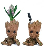 Wholesale Pen Desktop - New Fashion Guardians of The Galaxy Flowerpot Baby Groot Action Figures Cute Model Toy Pen Pot Best Christmas Gifts For Kids