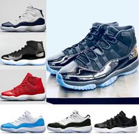 Wholesale Women Snow Boots Size 11 - 2018 New Prom Night Mens 11 11s Basketball Shoes Iridescent UNC Gym Red Space Jam 45 Black Concord Sports Sneakers Size 5.5-13