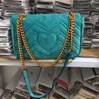 бесплатная подарочная сумка для макияжа оптовых-Бесплатная shiopping 2018 ТОП новый подарок мода черная цепь макияж сумка известный роскошный мешок партии Marmont бархат сумка Womendesigner сумки #3688