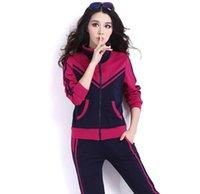 artı boyutu kadın yoga pantolon toptan satış-Patchwork Renk Stil Eşofman Kadınlar Moda 2 Adet Set Kadınlar Plus Size 5XL Kapüşonlular + Pantolon Gündelik Spor Takımları