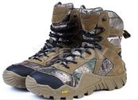 botas de camuflaje al por mayor-Envío gratis hombres caza exterior camuflaje hombres de la selva zapatos botas militares zapatos de invierno hombres camuflaje EVA zapatos de senderismo