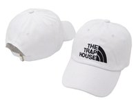 Wholesale dome housing resale online - The Trap House baseball cap summer Cotton leisure cap outdoor sports peaked fashion Snapbacks hip hop curved strapback sun hats black white