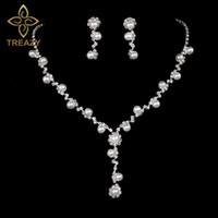 3997b70ddd84 conjuntos de perlas de fantasía al por mayor-TREAZY Rhinestone de la borla  de cristal