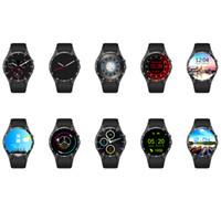Wholesale gsm heart rate for sale - KW88 Luxury Watch For Android With Round Screen Smart Watches Pedometer WIFI GPS GSM WCDMA Heart Rate Bluetooth Camera Music Wristband
