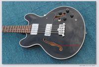 chinesische hohlkörpergitarre großhandel-OEM Verkäufe Custom Jazz Bass Hohl Thin Körper Mahagoni Körper Hals Geschlossenen Knopf String Winder Chinesischen Gitarre Fabrik Freies Verschiffen