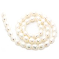 Wholesale oval freshwater pearls for sale - Group buy 2018 Quality loose oval fresh water pearl string mmaaa grade no thread natural freshwater pearl beaded