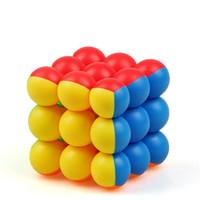 brinquedos mágicos contas venda por atacado-Magic Cube Bead Design de forma especial Adultos Stress Relief Props Crianças Puzzle Criativo Brinquedos educativos Frete grátis 7 15yj Z