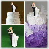 wedding cake supplies decorations achat en gros de-2018 Date Romantique Mariée Groom Cake Toppers Mariage Gâteau Fournitures Résine Figurine Artisanat Souvenir Décorations De Mariage