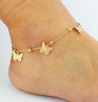 gelin nedime sandaletler toptan satış-Düğün Ayakkabı Için DHL Yalınayak Sandalet Sandel Halhal Zincir Altın Toe Ring Boncuk Düğün Gelin Gelinlik Ayak Takı