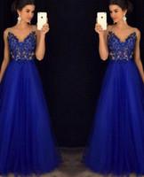 Wholesale Evening Dresses Out Shoulder - Formal Evening Prom Mesh V Neck Off Shoulders Dress Dress Ball Gown