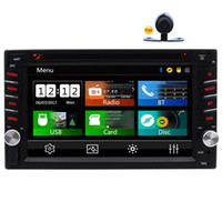 tf mp4 player negro al por mayor-Doble Din Car Estéreo En el tablero FM RDS Radio 6.2