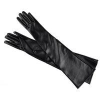 ingrosso guanti a gomito caldi-Gomito in pelle sintetica donna guanto nero rosso colore sottile stile caldo moda guanti per esterno strada Pat 10cz ff
