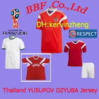 Wholesale russian jersey xxl resale online - Thailand t thirt soccer jerseys player version russian jerseys ARSHAVI N jersey YUSUPOV jersey DZAGOEV DZYUBA world cup Football shirts