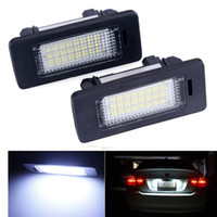 Wholesale Bmw E39 License Plate Light - 2pcs Lot For bmw e39 e60 led license plate light 6000k led number plate Light lamp For bmw e60 E70 X5 E39 E61 M5 E88 E93 E92
