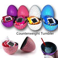 Wholesale Tumbler Battery - Dinosaur Egg Tamagotchi Virtual Digital Electronic Pet Game Machine Tamagochi Toy Game Handheld Tumbler Funny Virtual Pet Machine Toys # H03