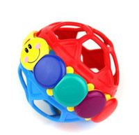 Wholesale baby toys for sale - 10cm Soft Plastic Sounding Ball Creative Baby Pinch Cartoon Smile Design Balls Kids Puzzle Intelligence Develop Props Hot Sale fl Z