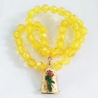 ingrosso i monili di costume della collana gialla-Fascino giallo perline di cristallo collana per vestire bambini bambini costume cosplay accessori collana pendente gioielli decorazione HH7-1145