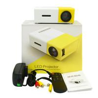 pocket-audio-player großhandel-Mini-LED-Projektor YG300 LED-Licht Multimedia Pocket Portable Projektor 400-600LM 3,5 mm Audio HDMI USB Mini Projektor Home Media Player