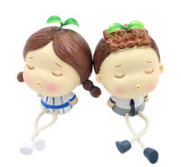 Wholesale Doll More - Cartoon Lovers Doll Car Decoration Cute Upscale Car Decoration Little Doll Decoration