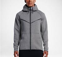 casacos venda por atacado-Outono E Inverno Esportes Lazer Masculino Com Capuz Camisola de Algodão Marca de Moda de Nova Casaco do Homem Plus Size L-5XL