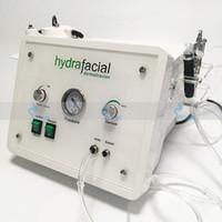 máquina de peeling aqua al por mayor-3in1 Diamante portátil Microdermoabrasión belleza máquina oxígeno cuidado de la piel Agua Aqua Dermabrasión Peeling hidrafacial equipo SPA