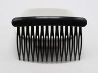 ingrosso barchetta artigianale-12 fermagli per capelli neri in plastica a lato pettini fermagli per pin 80 x 50 mm per le donne