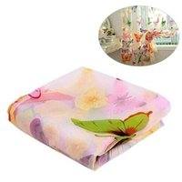 Wholesale Printed Curtain Panels - 100x270cm Washable Butterfly Print Sheer Window Panel Curtains for Home