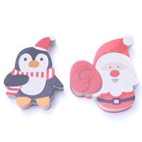 Wholesale penguin for sale - 50pcs lot Hot Sale Penguin Santa Claus Lollipop Paper Card Decoration Birthday Party Candy Decor Christmas Candy Gift For Kids