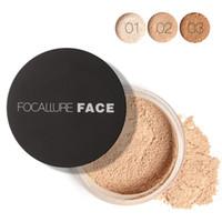 elfenbein make-up großhandel-Neues heißes Make-up FOCALLURE stellen loses Puder 3colors ein, das Puder 7G Elfenbein Qualität DHL-Verschiffen einstellt