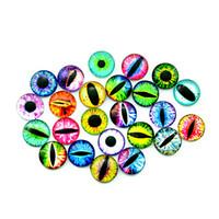 12mm glasaugen großhandel-20 Stücke 12 MM / 16 MM / 20 MM Glas Puppen Auge DIY Handwerk Augen für Spielzeug Dinosaurier Tierauge Zeit Edelstein Zubehör Keine selbstklebende
