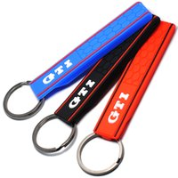Wholesale Golf Mk7 Key - Popular Cool Silicone GTI Logo Emblem Badge Car Keychain Key Ring for VW Golf MK2 MK3 MK4 MK5 MK6 MK7 Polo Car Styling Auto Accessories