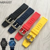 Wholesale red black tool belts resale online - 22mm mm Black Silicone Rubber Watch Band Strap With Watches Thicken Buckle Belt Watch Accessories Tools For